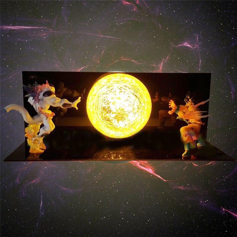 Dragon Ball Z Фигурки Гоку сон фигурка Коллекционная DIY аниме модель светодиодный светильник фигурка Подарочная коллекция игрушек - 3