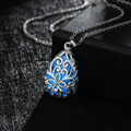 Silver Plated Steampunk Pendant Glow In The Dark Jewelry Glowing Hollow Flower Women Necklaces & Pendants Free Shipping TD005