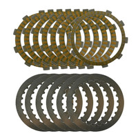 A Set Motorcycle Engine Parts Clutch Friction Plates Kit Steel Plates For HONDA CRM250AR CRM 250AR