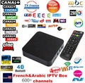 Francés Quad core Android tv box con 1 año 650 + Árabe Francés código En Vivo TV XBMC preinstalado IPTV árabe iptv gratis smart tv box