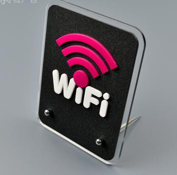 10 pcs por atacado 15x11.5 cm cartões de Identificação de rede Sem Fio WI-FI sinal acrílico estande acrílico