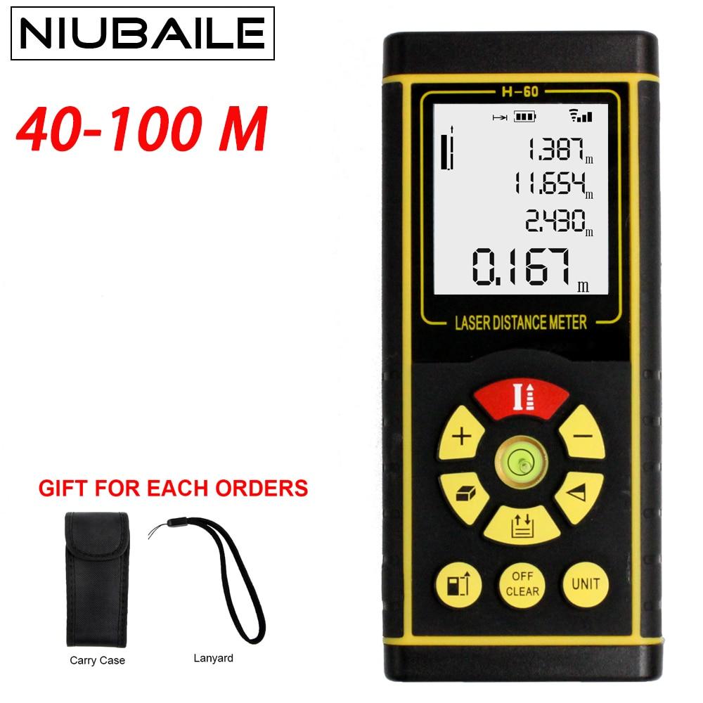 Laser Distance Meter Range Finder Rangefinders Handheld Distance Meter 40M 60M 80M 100M Trena Tape Diastimeter Measure Ruler цена