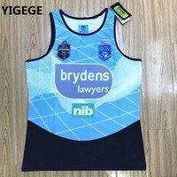 YIGEGE Australia 2018 NSWRL HOKDEN STATE OF ORIGIN home Rugby Jersey Singlet vest shirt League jerseys s 3xl