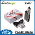 100% qc original eleaf istick 200 w com melo 300 starter kit 3.5 ml 5000 mah eleaf vape 200 w caixa mod