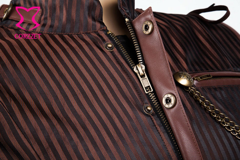 Collar Jacket Striped Corset 31