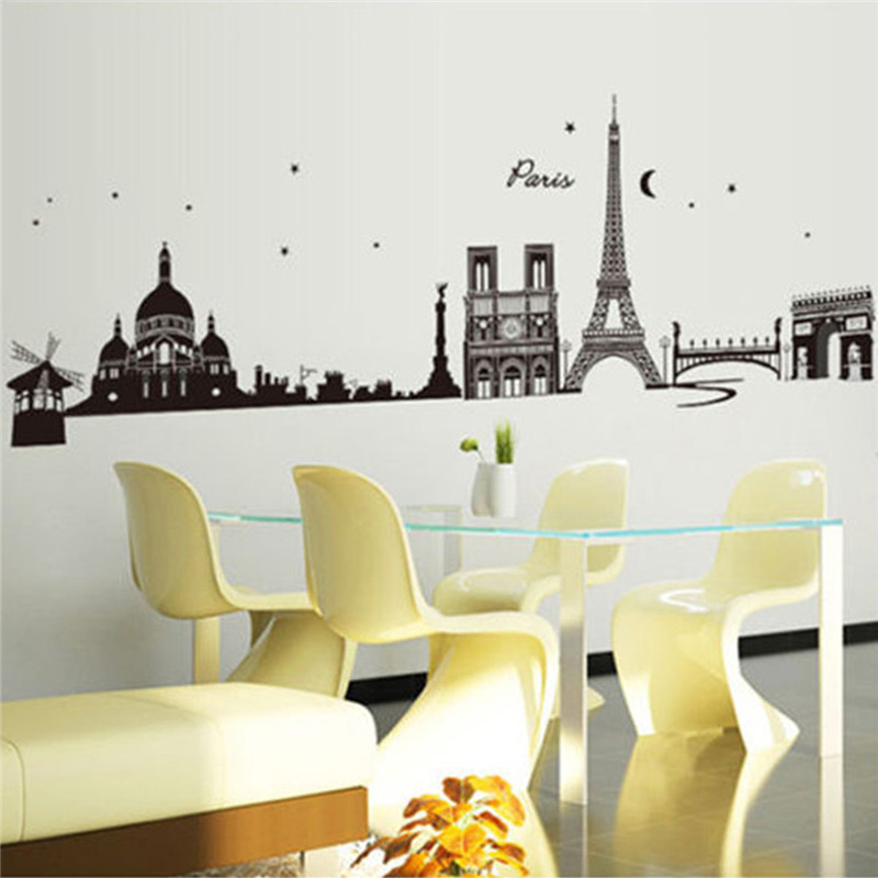 New Paris Eiffel Tower World City Wall Decal Stickers Removable Living Room  Bedroom Background Decoration Wall. Online Get Cheap Eiffel Tower Room Decor  Aliexpress com   Alibaba