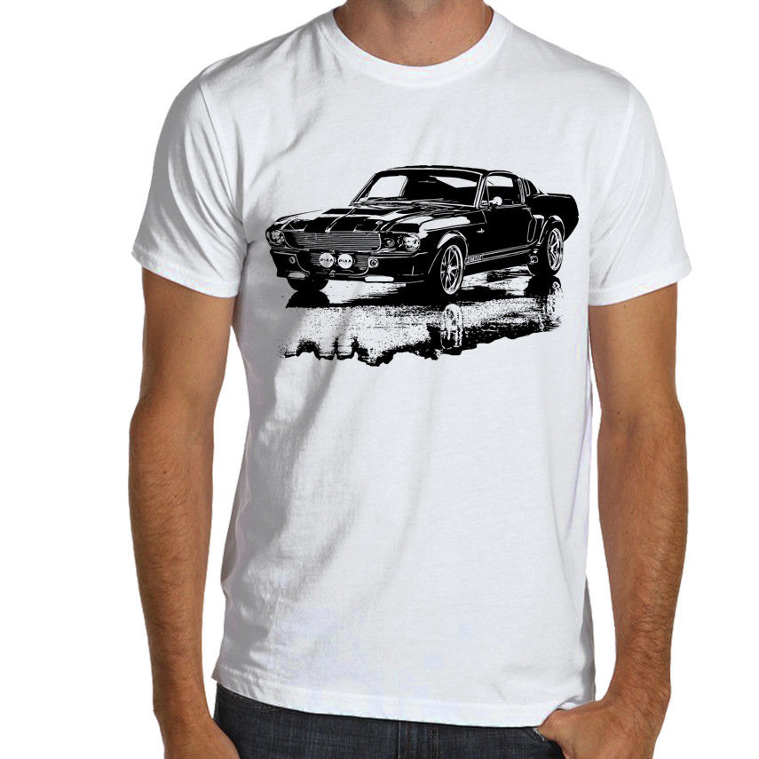 T-shirts, Tops & Shirts Shelby Mustang Gt500 Eleanor 1967 Retro Style Kids Car T-shirt