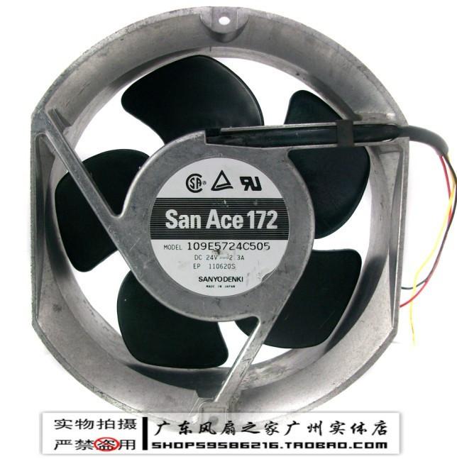 Free shipping Genuine Sanyo 17CM 17251 172 * 172 * 51MM24V 2.3A109E5724C505 double ball bearing fan drive
