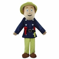 Fireman Sam Mascot Costume Firefighter Christmas Party Dress Suit Free Shipping
