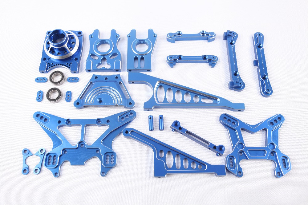 LOSI 5IVE-T Spare parts, CNC Completed set for LOSI 5IVE-T fid rear axle c block for losi 5ive t mini wrc