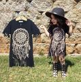 SQ237 Meninas vestidos de algodão escova Dreamcatcher para crianças do vestido do verão do bebê roupas da moda 2016 nova coleção de roupas de menina