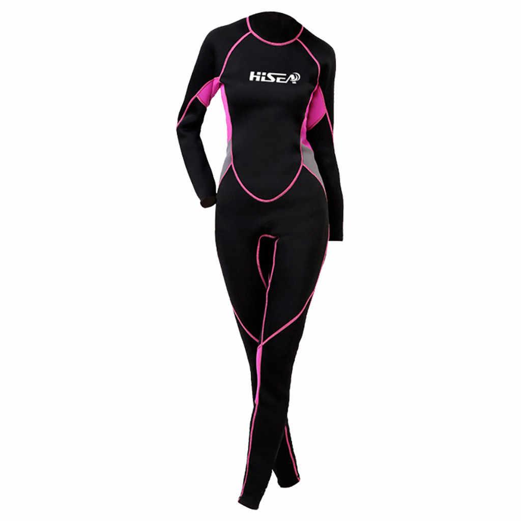 3MM Neopren Wetsuit Tek Parça ve Yakın Vücut dalgıç kıyafeti kadınlar için Tüplü Dalış Sörf Şnorkel Spearfishing Artı Boyutu # XTN