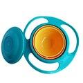 New Arrival Crianças Kid Baby Toy Universal 360 Girar Spill-Proof Bowl e Pratos com uma tampa tigela Bebê conjunto Colher Louça garfo