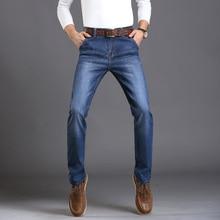 JUSSARA LEE Brand Mens Jeans Autumn Winter Mens Jeans Blue Denim Jean Designer Slim Fit Stretch Jeans Good Pants Trousers For Me