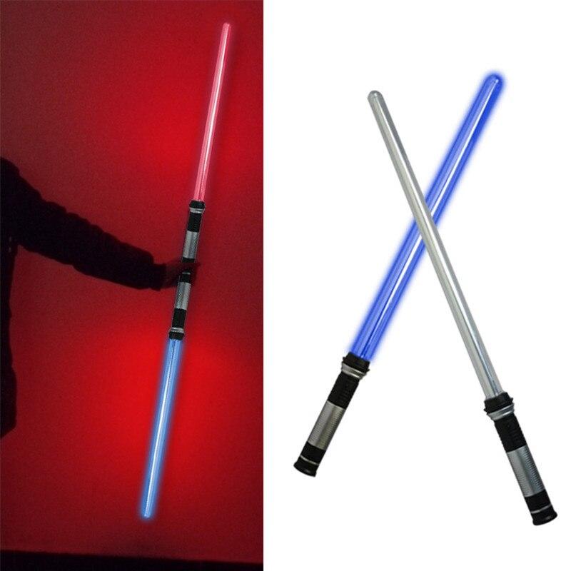 2pcs Lightsaber Boy Gril Toys Flashing Sword Cosplay Funny Star Wars Laser Sword Luminous Music Children Outdoor Creative Gift