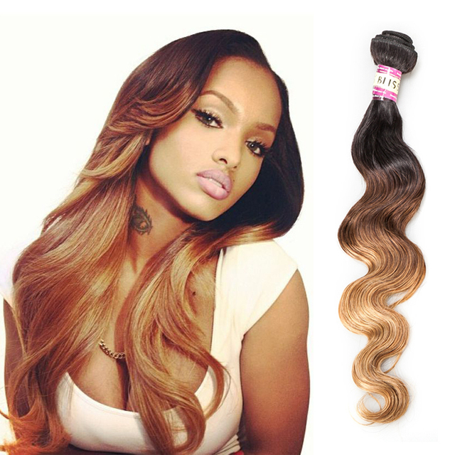 Bliss Haie 7a Free Shipping 4pcs Ombre Hair Extensions Brazilian