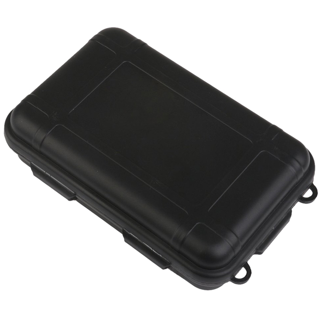 Hermetic Box Shockproof Waterproof Storage Box Outdoor Container Black L