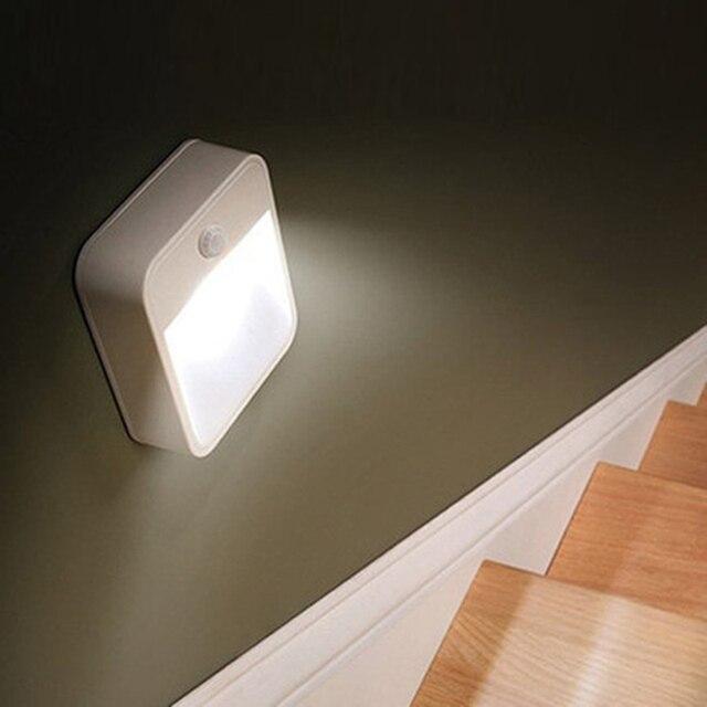 Modern Wireless AAA battery/solar night light Infrared PIR Motion Sensor light led energy saving lamp for Hallway Pathway