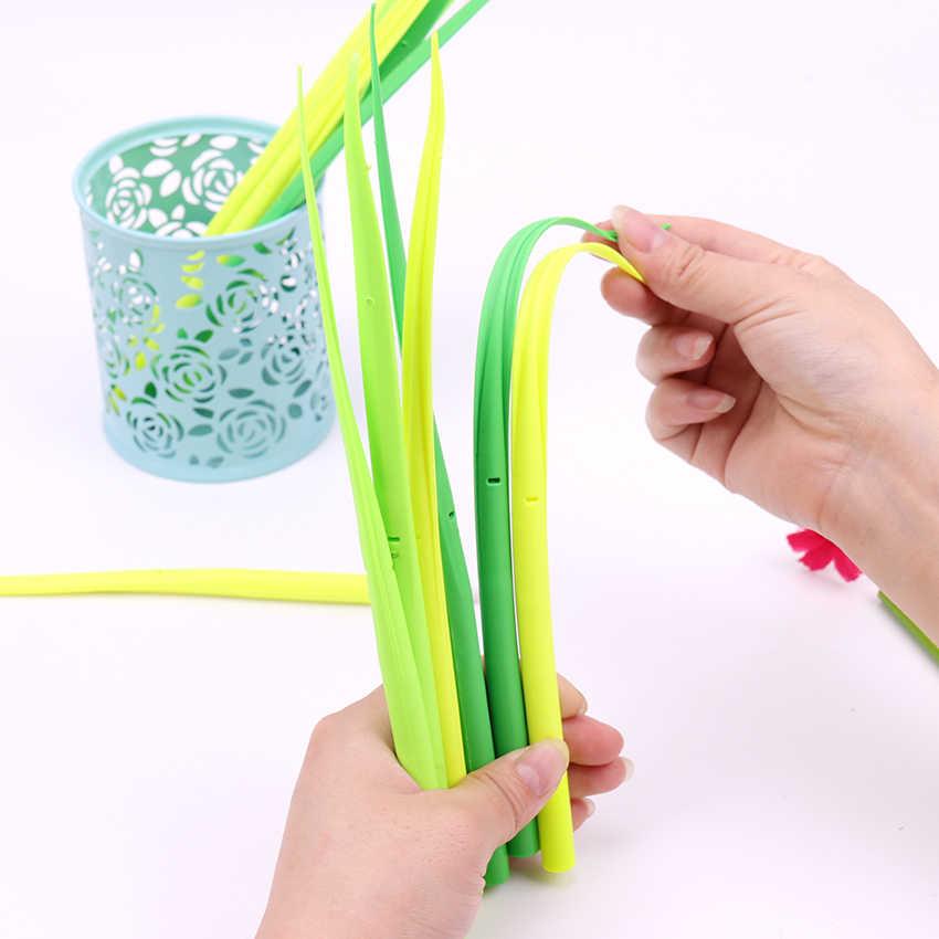 1 قطعة الأخضر العشب هلام القلم Kawaii العشب بوتينغ الديكور مكتب القرطاسية اللوازم المدرسية 0.38 مللي متر الكتابة سيليكون لينة أقلام