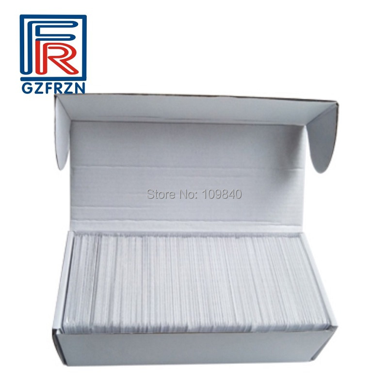 100pcs/lot ISO18000-6B card with HSL chip 915MHZ pvc white cards/tag for Access control parking Vehicle management non standard die cut plastic combo cards die cut greeting card one big card with 3 mini key tag card