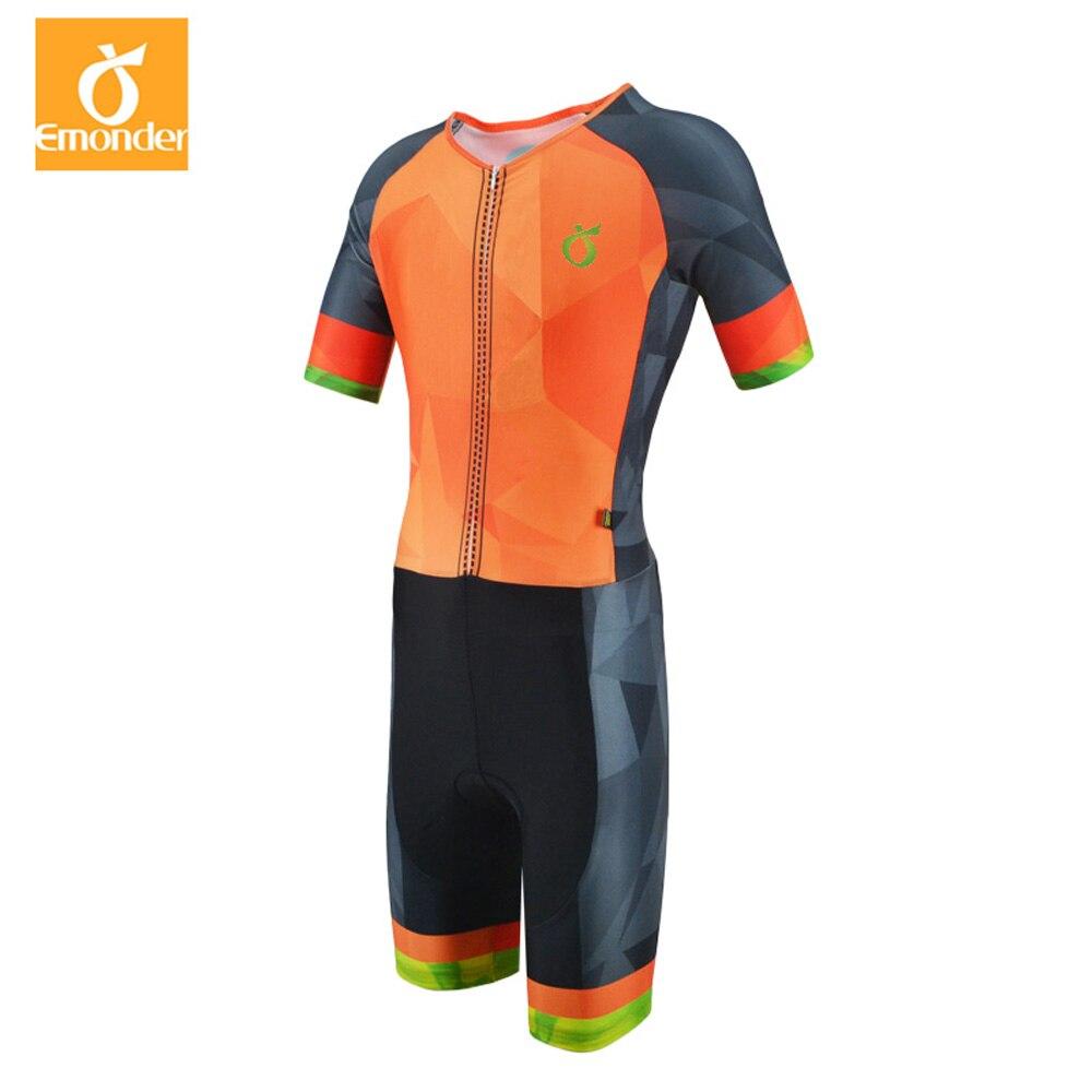 EMONDER 2019 Pro Cycling Skinsuit Short Sleeve Men s Cycling Sports Triathlon Sports Cycling Clothing free