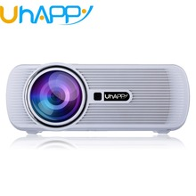 Uhappy X7 U80 Mini Projector 1800 Lumens TV Home Theater LED Projector Support Full Hd 1080p Video Media player Hdmi LCD 3D