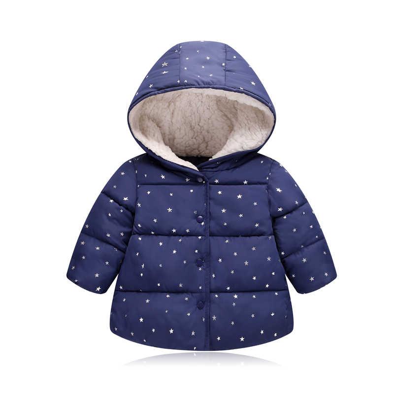 Осенне-зимняя верхняя одежда для малышей; куртка принцессы с капюшоном для маленьких девочек; пальто; подарки на первый День рождения; хлопковая стеганая одежда