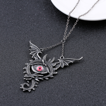 Maxi Dragon Fly Pendant Necklace3