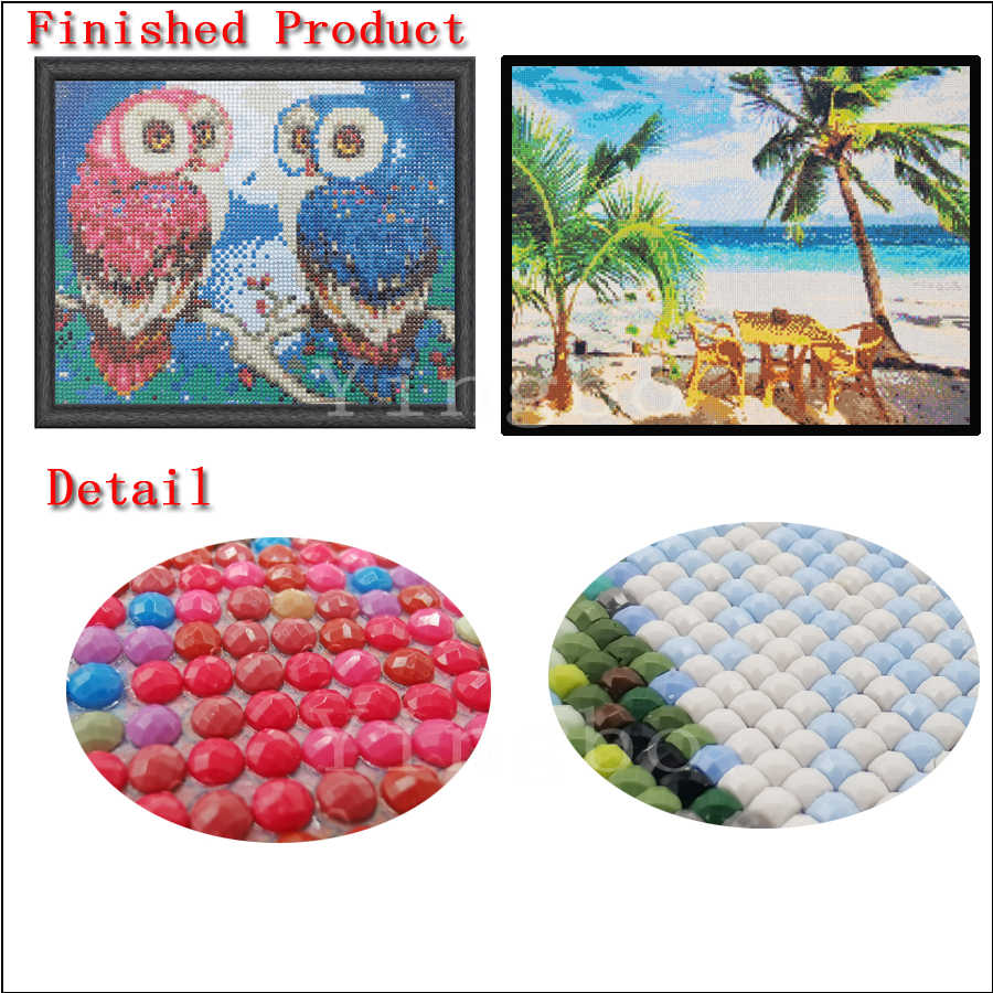 Diamond Bordir Air Terjun Sakura DIY Mosaik Diamond Cross Stitch Pemandangan Alam 5D Persegi Bor Berlian Imitasi Ikon Handmad