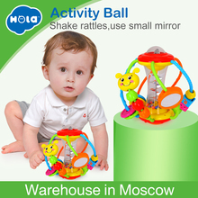 Купить с кэшбэком Colorful Baby Toys Ball Baby Rattles Educational Toys for Babies Grasping Ball Puzzle Multifunction Bell Ball 0-18 Months Gift