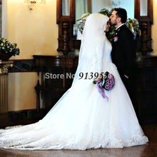 2016 New Hijab Long Sleeve Turkish Arabic Muslim Wedding Dresses Real Photo Vintage Wedding Gowns Robe De Mariage YWD66