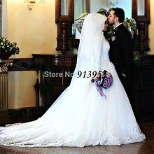 2016 New Hijab Long Sleeve Turkish Arabic Muslim Wedding Dresses Real Photo Vintage Wedding Gowns Robe De Mariage YWD66