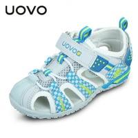 UOVO Summer Boys Sandals Kids Summer Shoes Breathable Kids Sandals Closed Toe Sandals For Boys Beach Children Sandals
