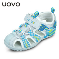 UOVO Summer Boys Sandals Kids Summer Shoes Breathable Kids Sandals Closed Toe Sandals For Boys Beach Children Sandals