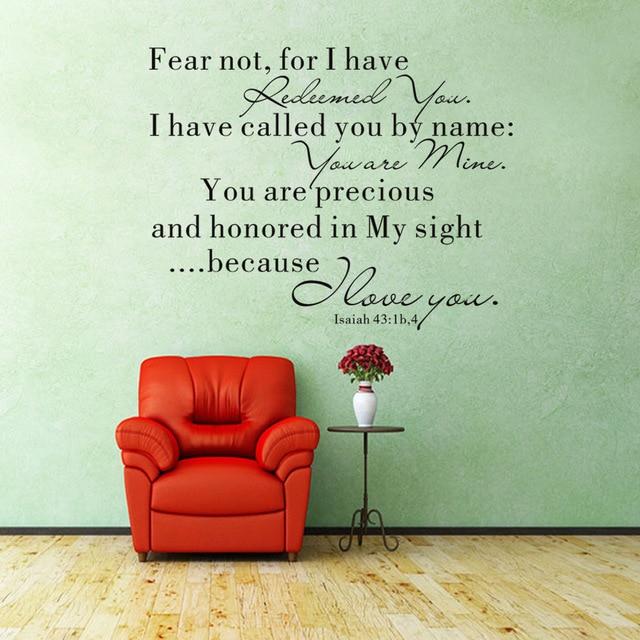 spreuken angst Gesneden angst niet Engels spreuken zitkamer versiering PVC  spreuken angst