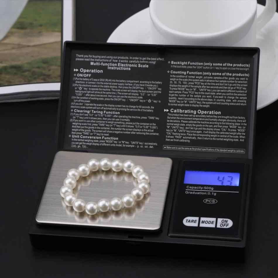0-1000G Mini Di Động Đèn LED Kỹ Thuật Số Cân Bỏ Túi Cao Độ Chính Xác Vàng Bạc Trang Sức Kim Cương Đá Bộ Dụng Cụ
