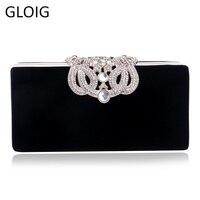 54f2f42981517 Crown Diamonds Women Evening Bags Small Clutch Purse Handbags Metal Golden  Evening Bag With Chains Shoulder