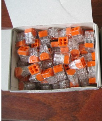 20pcs Wire Connector 1-2.5 Square Hard Wire Terminal Connector Joint 773-104 Terminal Connector For Wires Cable