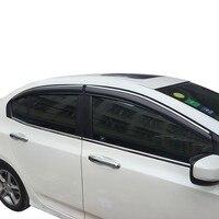 Đi mưa Kiểu Dáng Bên Ngoài Mouldings Xe Ô Tô Chống Windows Che DÀNH CHO Xe Honda Accord URV Vezel XR-V CRV Avancier Thành Phố Công Dân Phù Hợp Với Greiz odyssey