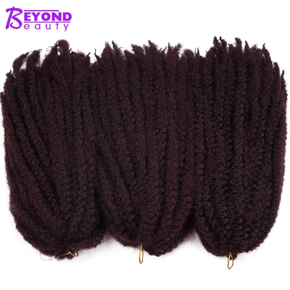 Beyond Beauty Ombre Marley Braids Crochet Hair Kanekalon Braiding Hair Synthetic Crochet Braids Hair Extensions Bulk 18inch