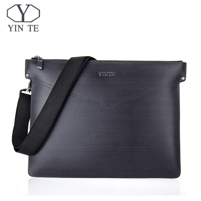 YINTE Fashion Man Messenger Bags Leather Shoulder Bag Male Cross Body Bag Office Men Commercial Clutch Bag Portfolio T8599-4