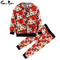 New girls clothing sets long sleeve kids clothes summer spring children clothing flower girl outerwear + baby pants tracksuit