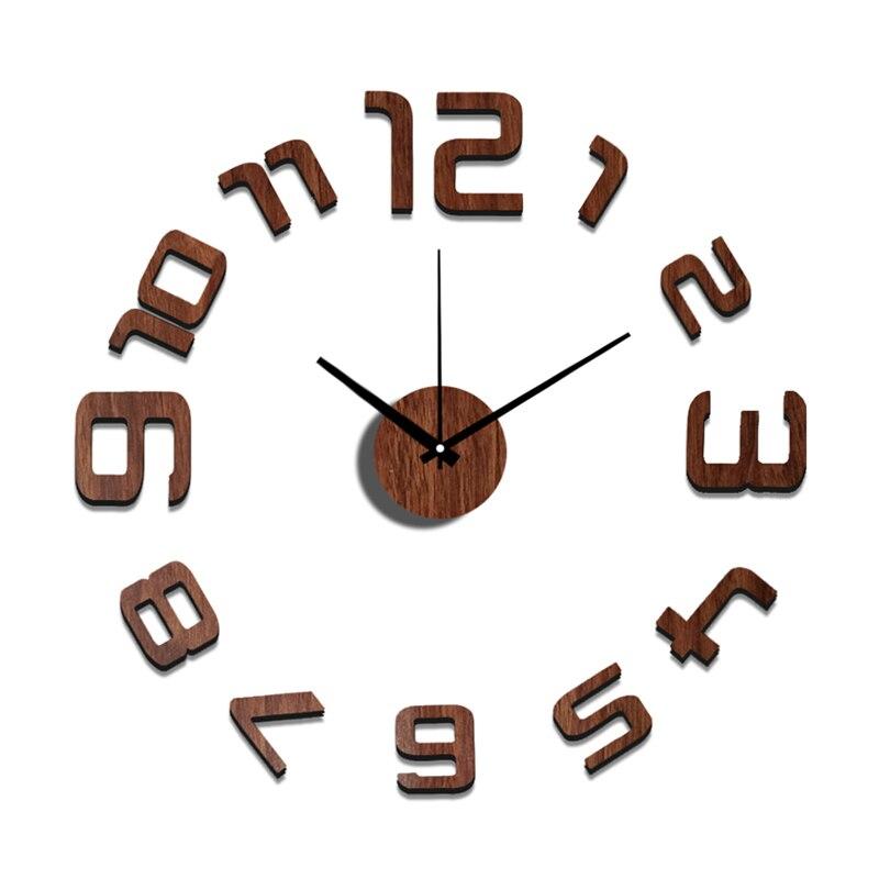 Gran Pared decorativa clocks10EW109 moda pegatina Eva números Reloj ...