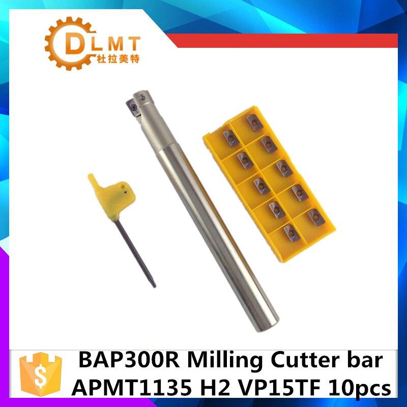BAP300R C20 21 150 2T BAP300R C20 21 160 2T + APMT1135 + 10 шт. прямоугольный индексируемый фреза держатель и Карбид CNC вставка