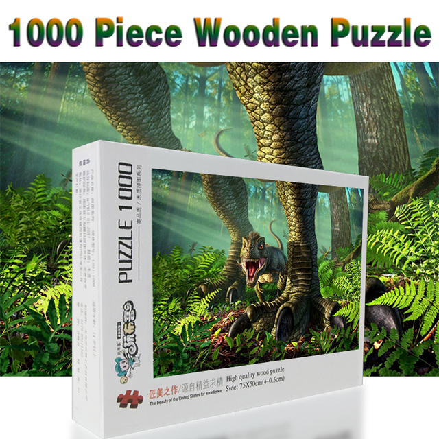 The Littlest Dinosaur Puzzle 1000 pieces Adult Puzzle Wooden Puzzle Cartoon  jigsaw Puzzles For Children Educational Toys Gifts