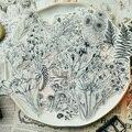 58 шт Винтажные Цветы Стиль Vellum бумажные наклейки Скрапбукинг/изготовление карт/Журнал проект DIY