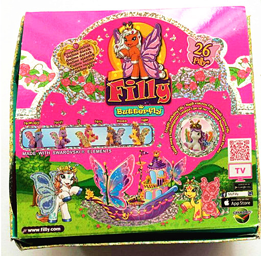 Simba Filly Glittery Butterfly Series Horses Original Packaging Flocking Little Horse Dolls Set Kid Christmas Gift Toy 24Pcs/set