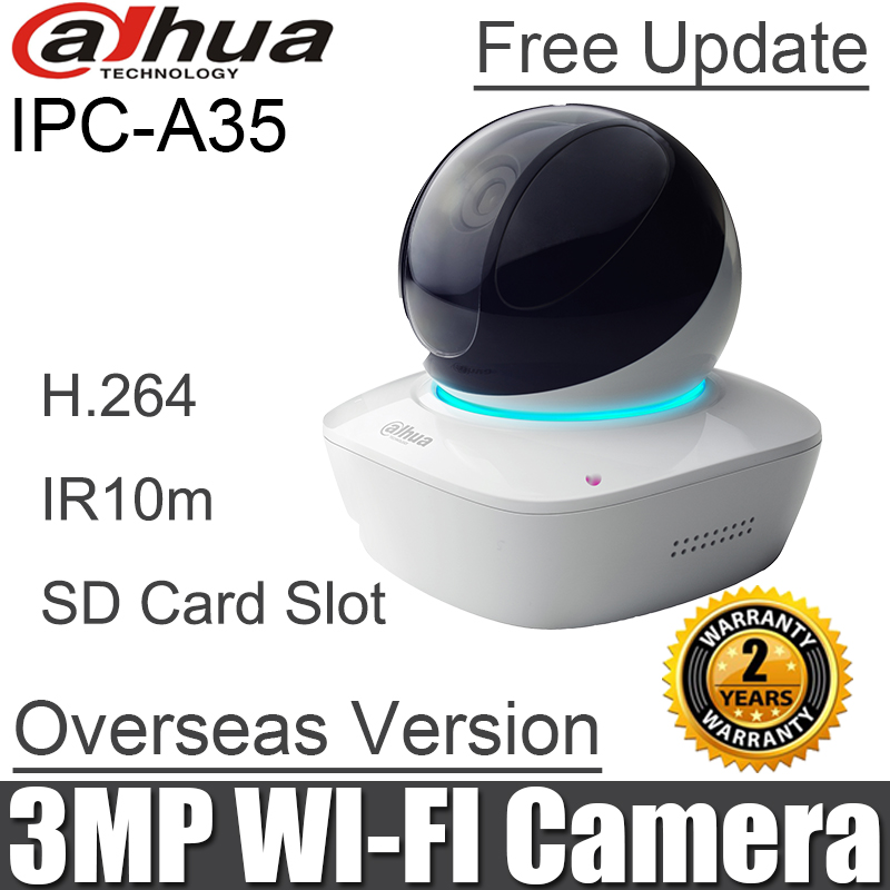 English Dahua IPC A35 mini PT ip camera baby monitor Built in Mic & Speaker DH IPC A35 HD PT 3MP Wi Fi Network Camera-in Surveillance Cameras from Security & Protection