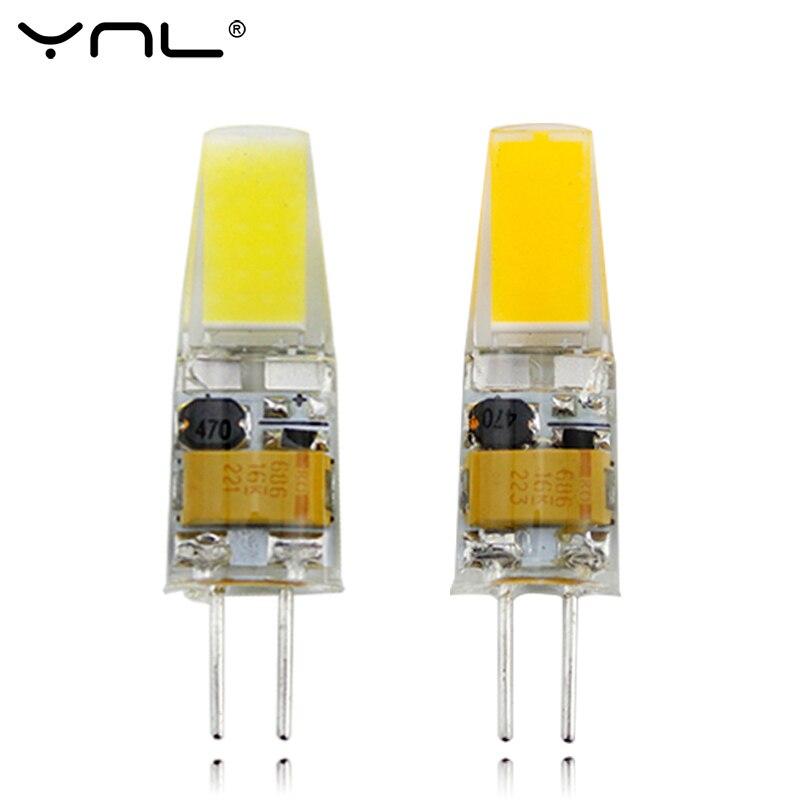 Ynl G4 светодиодные лампы AC DC 12 В мини лампада светодиодные лампы G4 1505 COB чип свет 360 Угол луча светильники заменить 30 Вт галогенные G4 spotlight