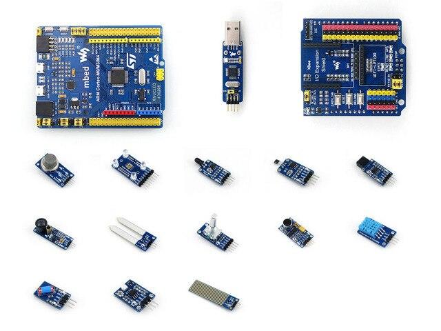STM32 ARM Cortex M4 STM32F302R8T6 Совет По Развитию + ST LINK модуль + IO Расширение Щит + Датчики = XNUCLEO-F302R8 Пакет а